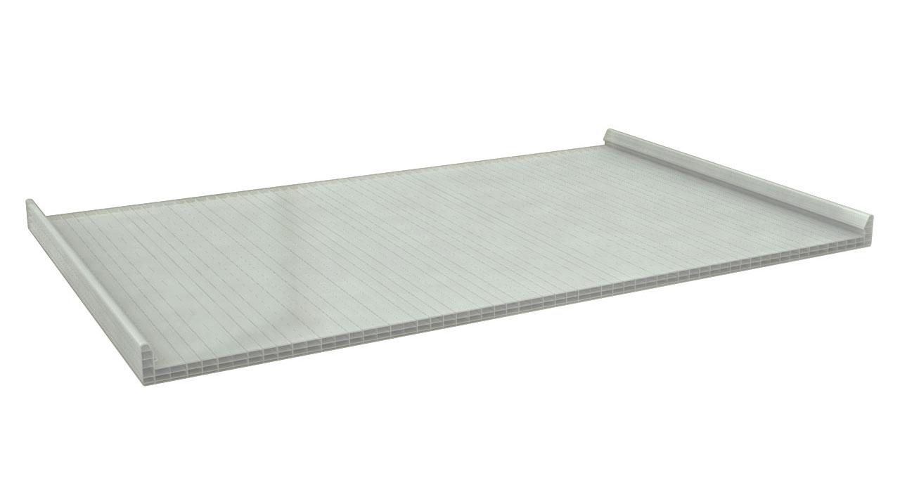 policarbonato para cubierta plana paneles ebro