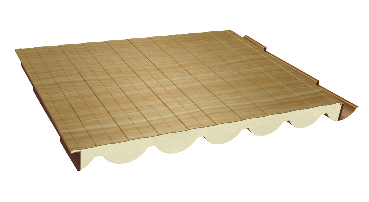 Panel sandwich teja coppo paneles ebro - Panel sandwich de madera ...